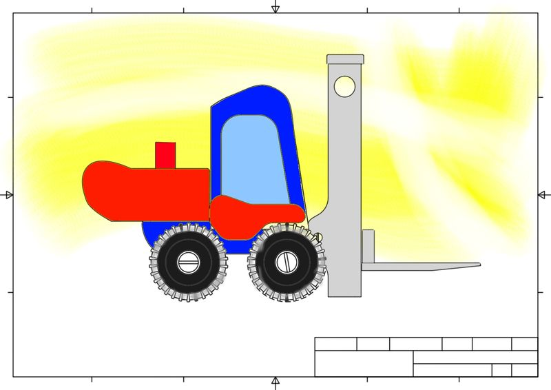 Fork Lift Toy - in SketchBook curved