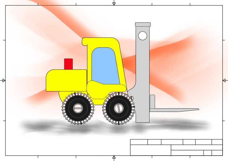Fork Lift Toy - in SketchBook